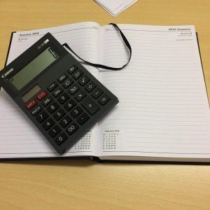 organizer i kalkulator